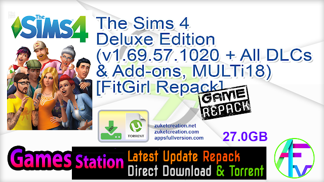 The Sims 4 Deluxe Edition (v1.69.57.1020 + All DLCs & Add-ons, MULTi18) [FitGirl Repack]